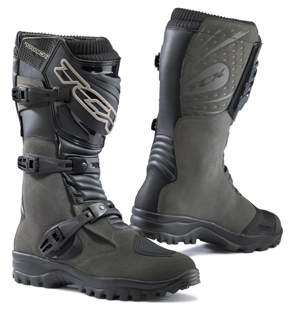 Track Ages TCX Motorcycle Boots Waterproof Grey