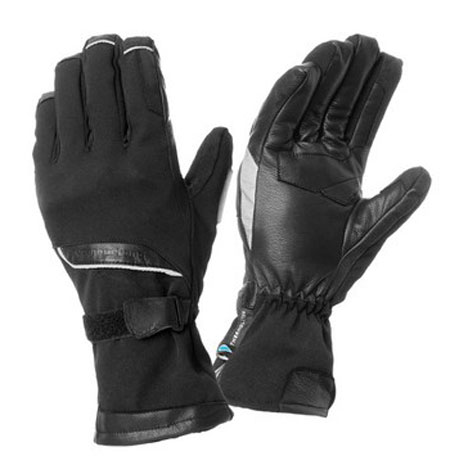 Leather motorcycle gloves black Tucano Urbano Firewall