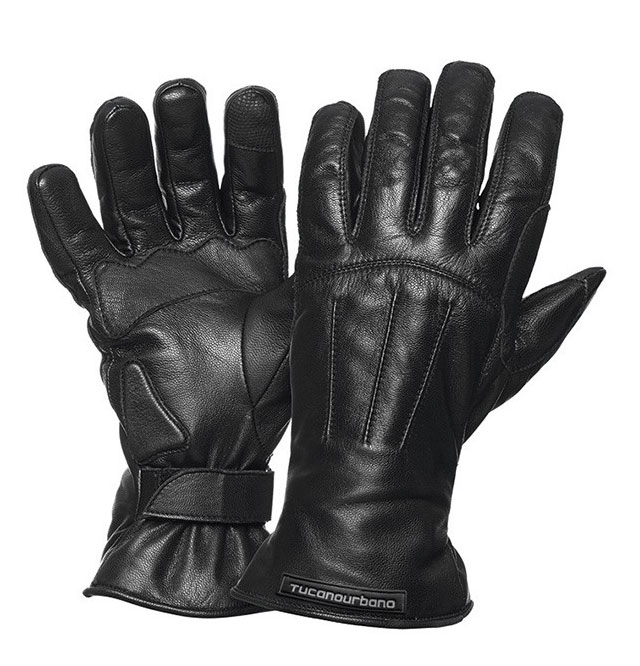 Tucano Urbano Softy Touch leather gloves Black