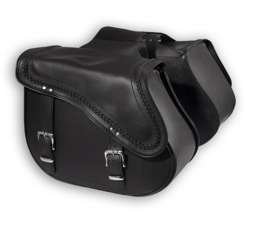 A-PRO 66 Route Custom Leather Saddle-Bags