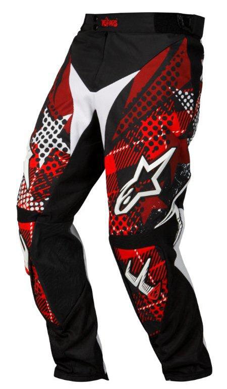 Pantaloni cross-enduro Alpinestars Charger Punk nero-rosso