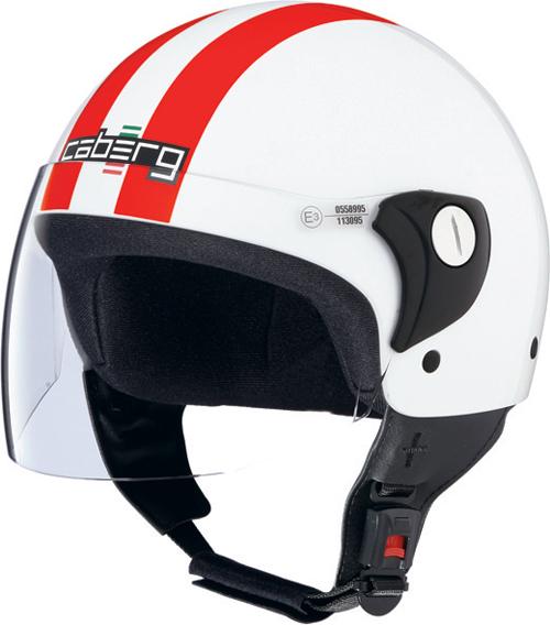 Caberg Cruiser Visor Legend demi-jet helmet white-red