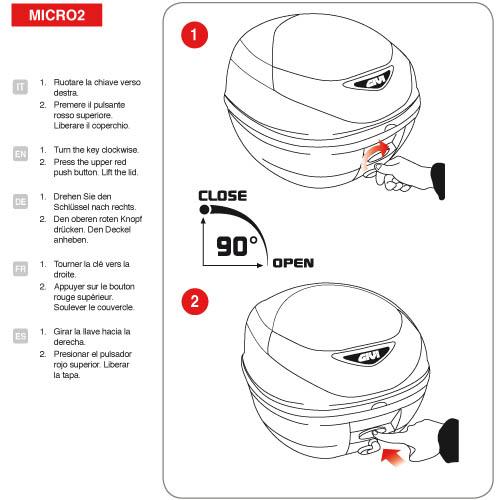 Givi Monolock Top Case E300NT2