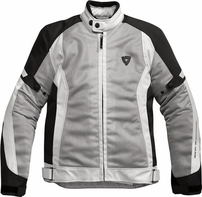 Rev'it airwave summer motorcycle jacket silver-black