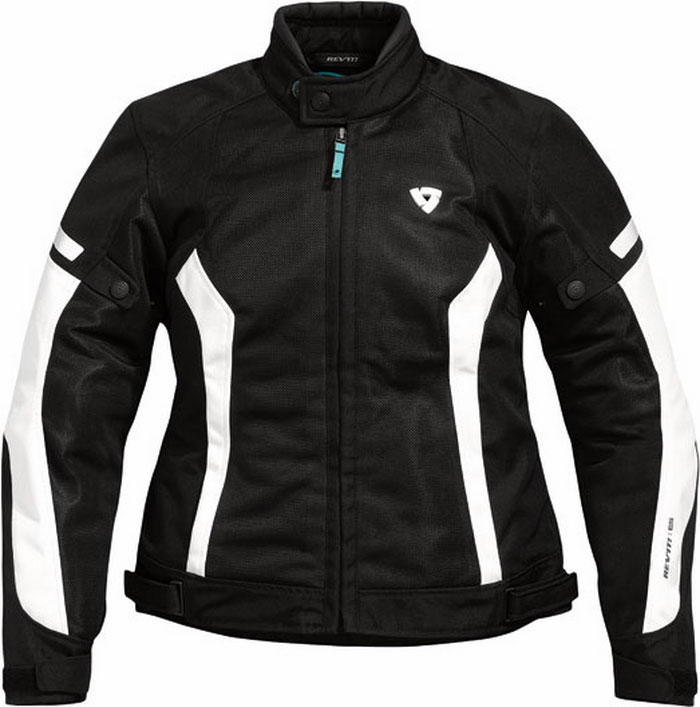 Giacca moto donna estiva Rev'it Airwave Ladies nero-bianca