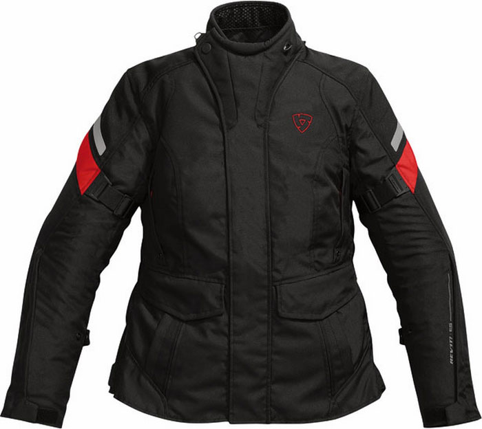 Rev'it Indigo Ladies motorcycle jacket black-red