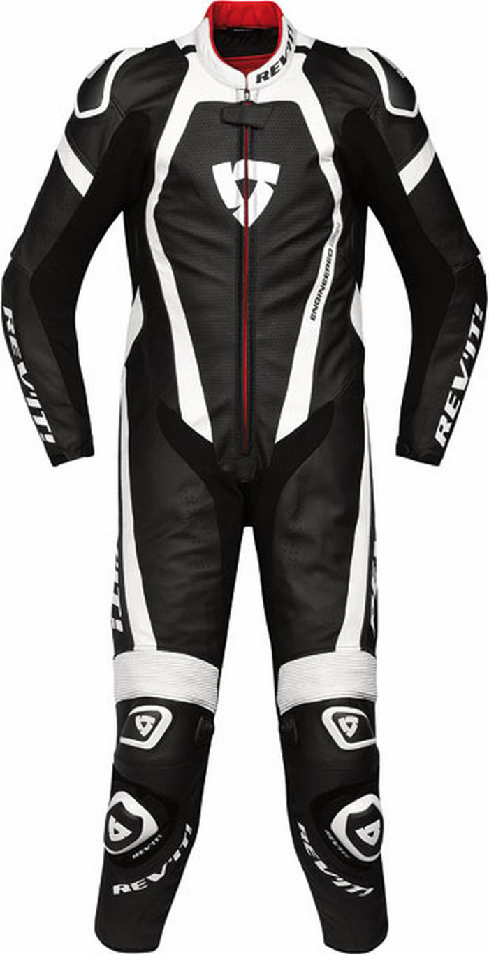 Rev'it Stingray leather racing suit black-white