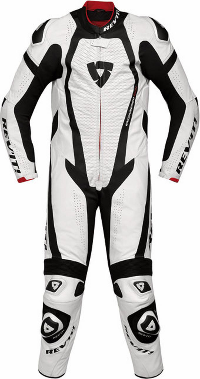 Rev'it Stingray leather racing suit white-black