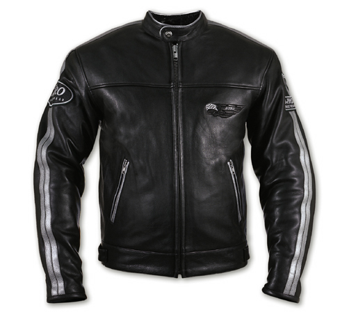 A-PRO Silverstone Custom Leather Jacket - Col. Black/Silver Gr