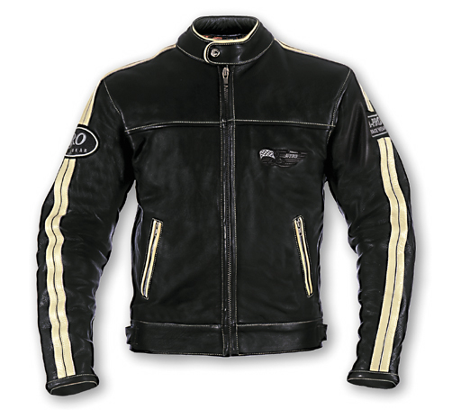 A-PRO Silverstone Custom Leather Jacket - Col. Black/Cream