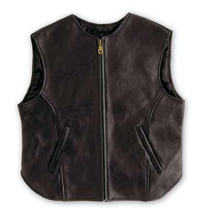 A-PRO Black Out Leather Vest