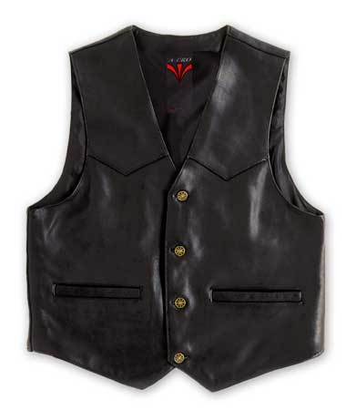 Gilet custom in pelle A-Pro Piston
