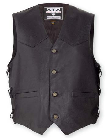 Gilet custom in pelle split A-Pro Tail