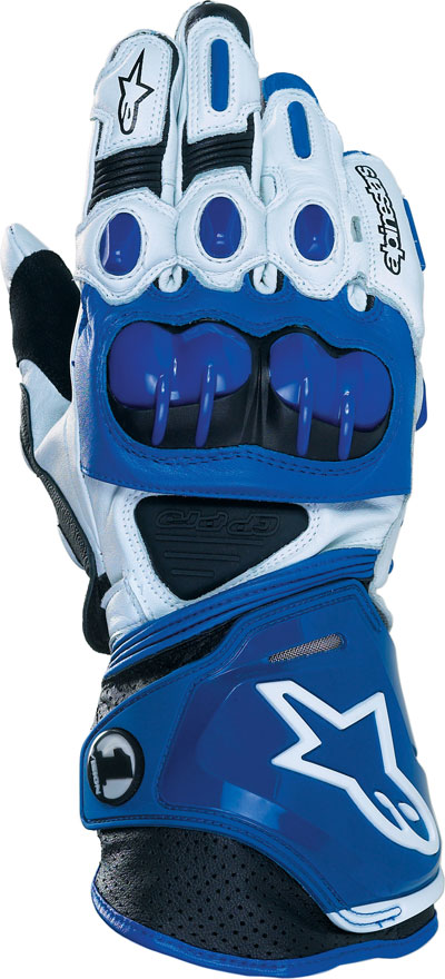 ALPINESTARS GP-PRO leather gloves col. blue