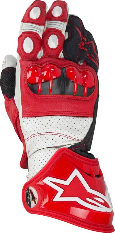 Alpinestars Gp Tech leather gloves red