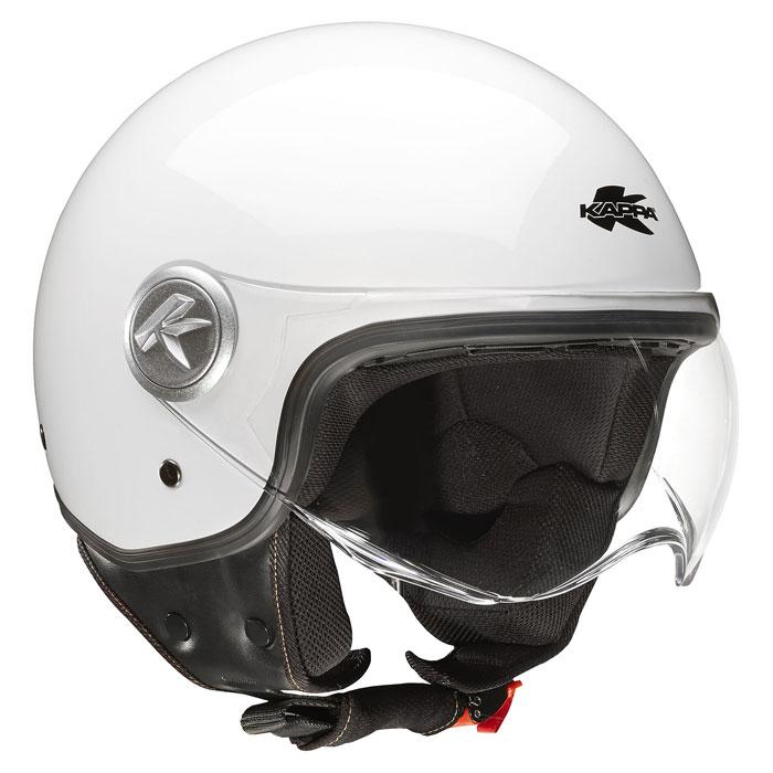 Jet helmet Kappa KV20 Rio Bianco