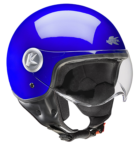 Casco jet Kappa KV20 Rio Blu notte metal