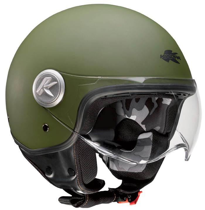 Casco jet Kappa KV20 Rio Verde militare