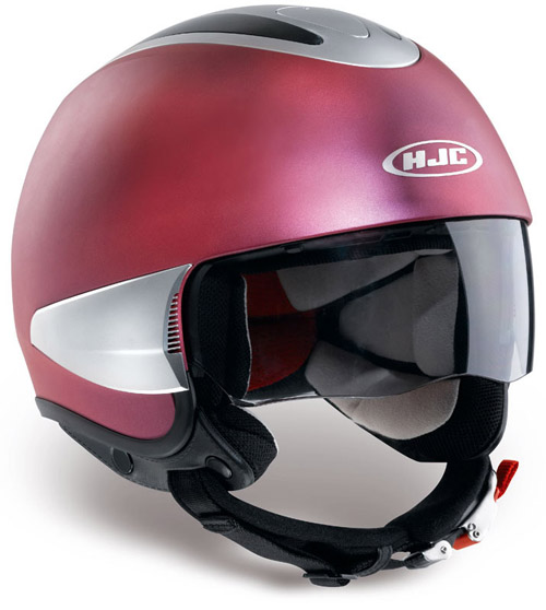 Casco moto jet HJC IS35 Flat Rose Red