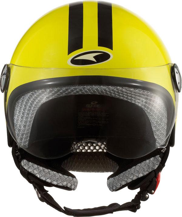 jet helmet AXO Subway Yellow Black