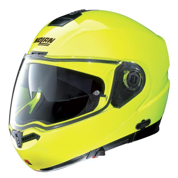 Nolan N104 Hi-Visibility N-Com open-face helmet yellow fluo