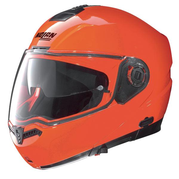 Nolan N104 Hi-Visibility N-Com open-face helmet orange fluo