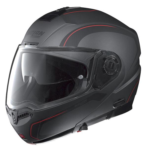 Casco moto Nolan N104 Action N-Com lava grey