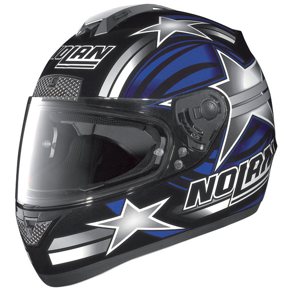 Casco moto Nolan N63 Stars nero-blu