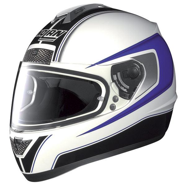 Nolan N63 Outrun fullface helmet white-blue