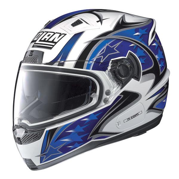 Nolan N85 Fight N-com fullface helmet white-blue