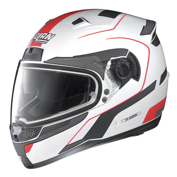 Nolan N85 Virage N-com fullface helmet white-red