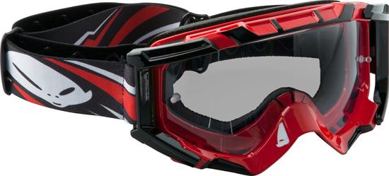 Occhiali moto cross Ufo Plast Mixage rossi
