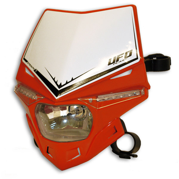Ufo Plast Stealth headlight single-colour red