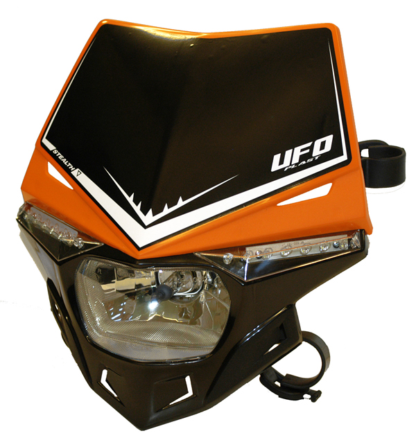 Ufo Plast Stealth headlight Dual colour orange-black