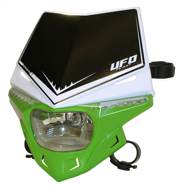 Portafaro Ufo Plast Stealth Bicolore bianco-verde