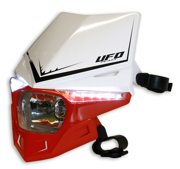 Ufo Plast Stealth headlight Dual colour white-red