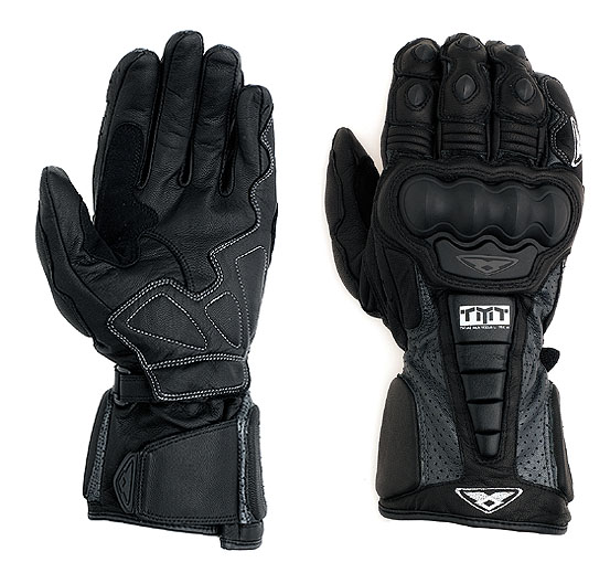 Prexport Pro Race leather gloves Black Anthracite