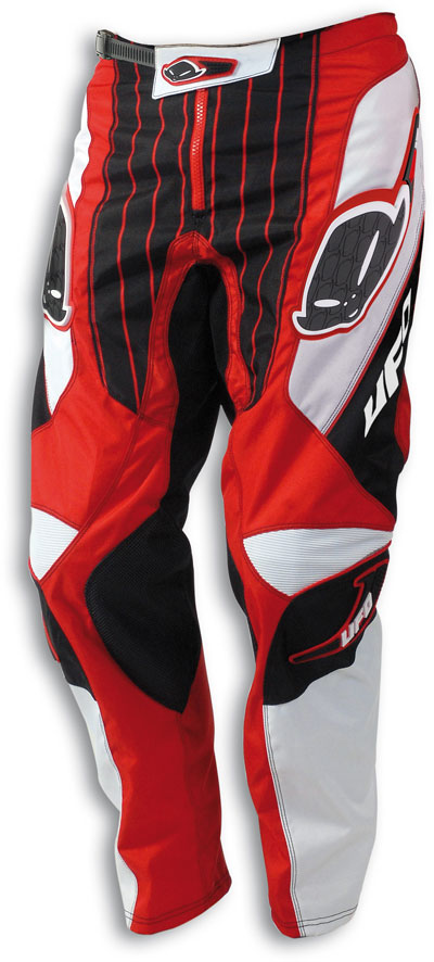 Pantaloni cross Pulse Ufo Plast rossi