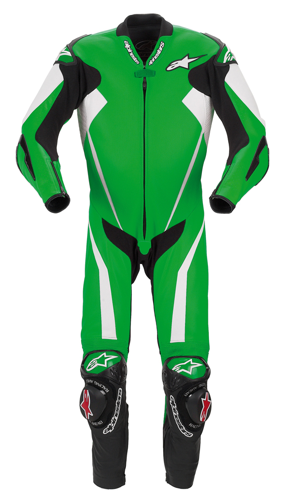 Alpinestars Racing Replica leather suit green