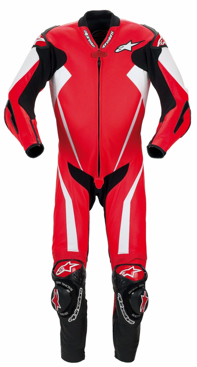 Alpinestars Racing Replica leather suit red