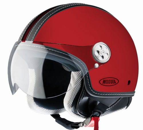 D-jet Woodex Racer Red Helmet