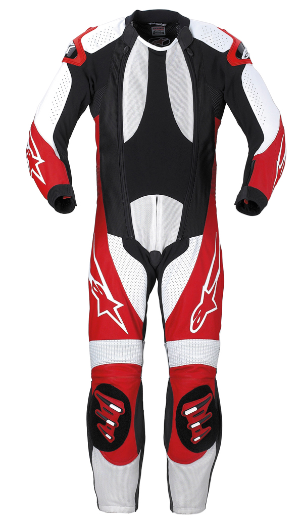 Alpinestars S-1 Supermoto leather suit black-red