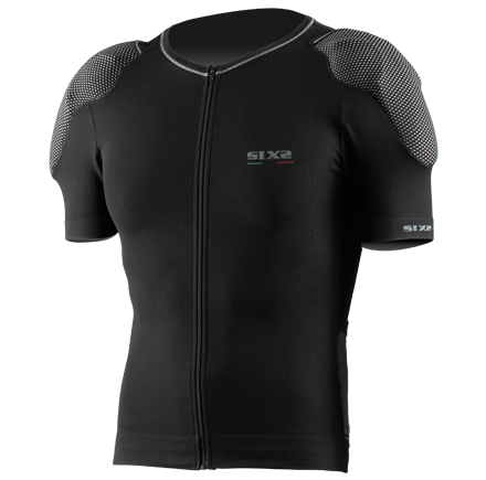 Sixs short sleeved zipped shirt with protections predisposition