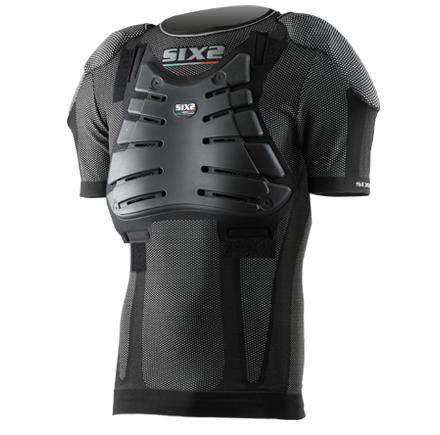Sixs short sleeved shirt with protections predisposition