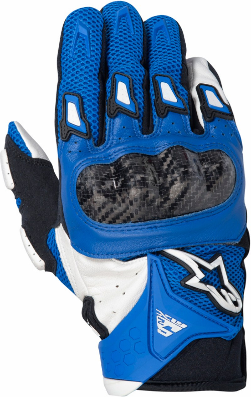 Alpinestars SMX-2 Air Carbon motorcycle gloves blue-white