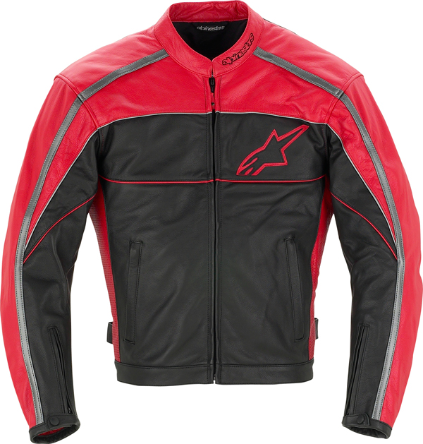 Alpinestars Spinner leather jacket black-red