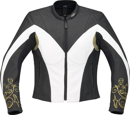 Alpinestars Stella Anouke leather women jacket black-white