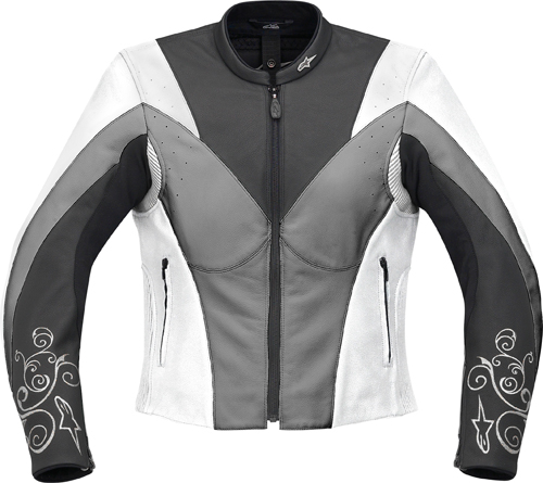 Alpinestars Stella Anouke leather women jacket white-gunmetal