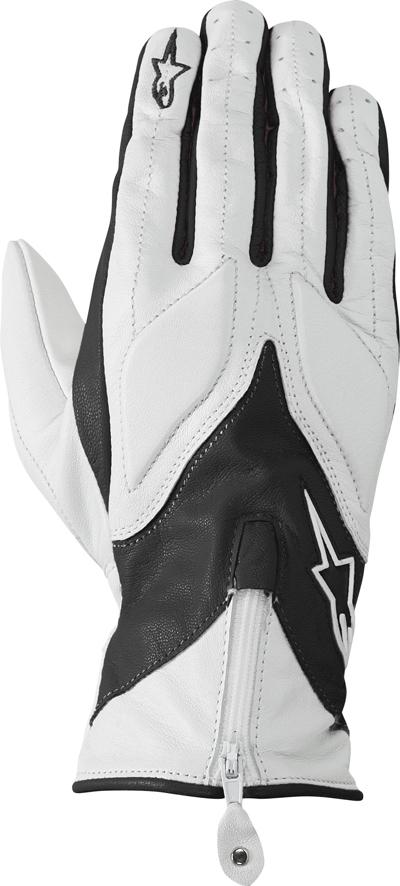 Alpinestars Stella Ice leather women gloves white-black