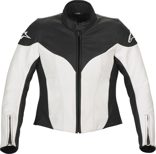 Giacca moto donna in pelle Alpinestars Stella Ice bianco-nera